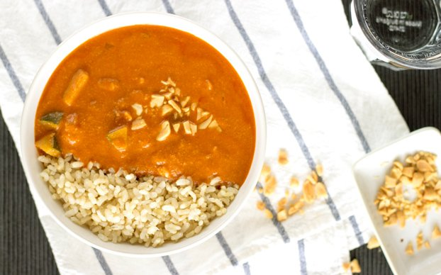 A mouth-watering Peanut Soup inspired by African cuisine. High in vitamin A, C, fiber and iron. It's vegan too!   hurrythefoodup.com