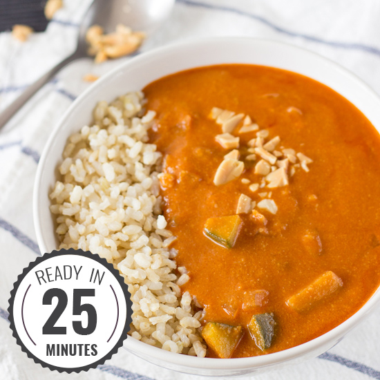 A mouth-watering Peanut Soup inspired by African cuisine. High in vitamin A, C, fiber and iron. It's vegan too! | hurrythefoodup.com