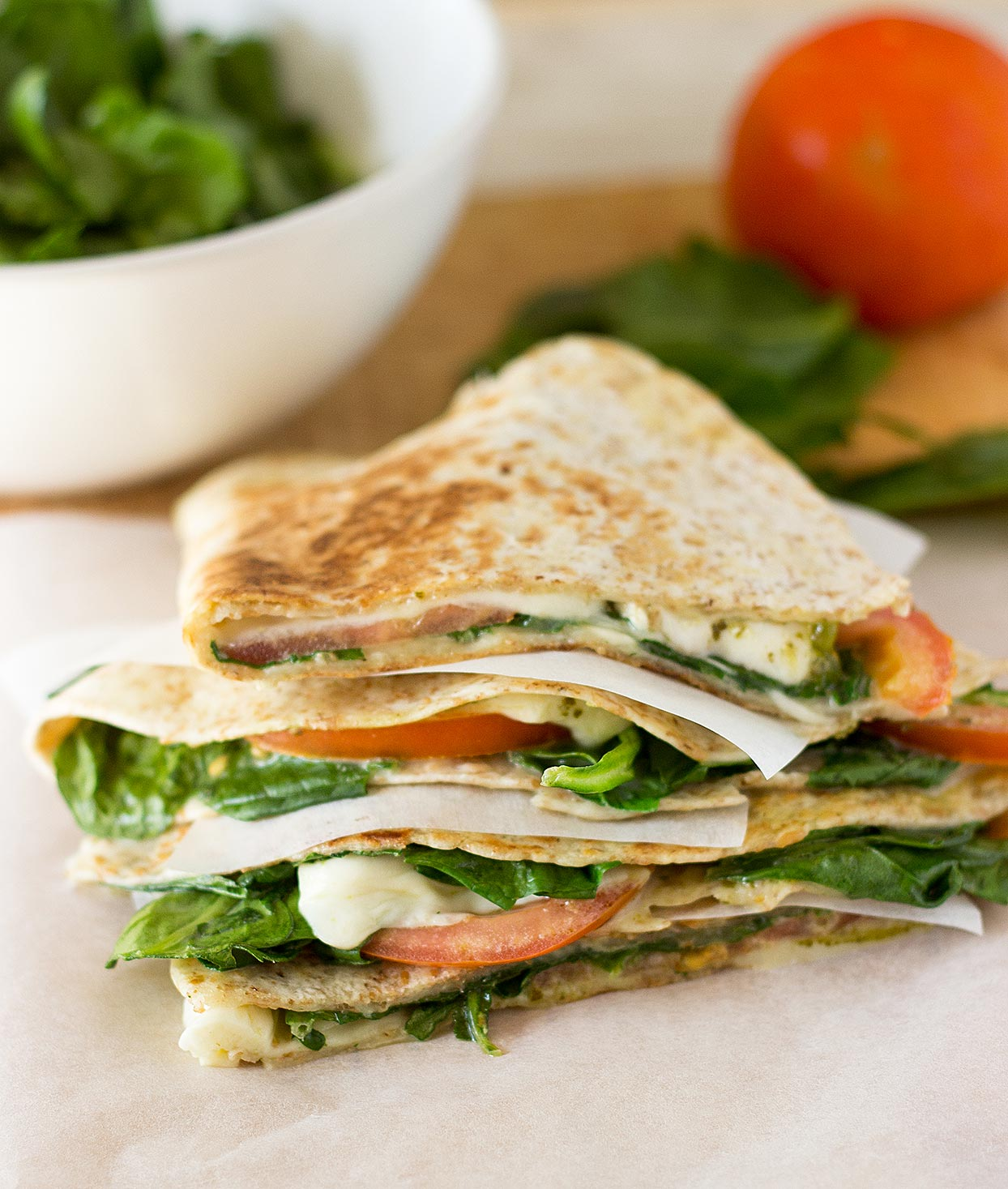 Satisfying Spinach Tomato Quesadillas 15 Min Vegetarian Hurry The Food Up