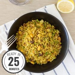 A zesty, tasty Pea Pulao that's really quick and easy to make | hurrythefoodup.com
