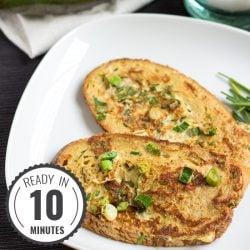 Great British Eggy Bread. Ready in 10 minutes | #breakfast #vegetarian | hurrythefoodup.com