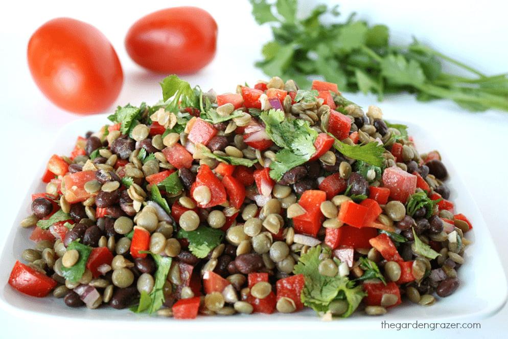 quick vegetarian high protein salads