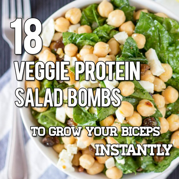 18 Vegetarian And Vegan High Protein Salads
