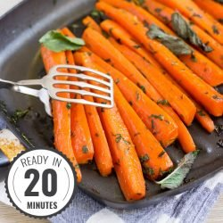 Delicious soft honey glazed carrots complemented with tarragon and mint for that real Christmassy flavour | #Christmas #vegetarian | hurrythefoodup.com
