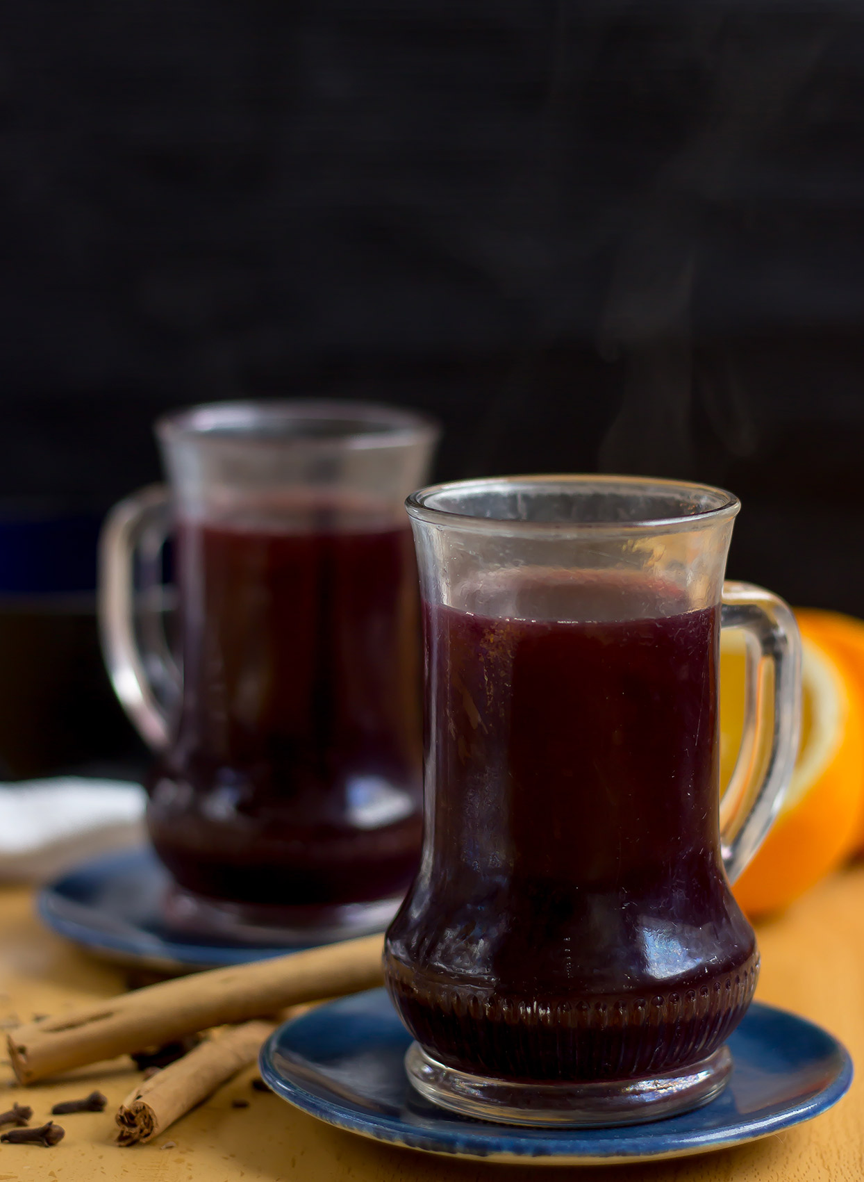 German Mulled Wine served in glasses