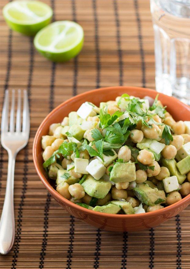 Avocado Chickpea Salad (5 Min, Vegetarian) - Hurry The Food Up