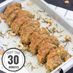 Modern nut roast. Minimum fuss, maximum taste. Prep Time 30 minutes, Roast Time 40 minutes | #maincourse #Christmas #vegetarian | hurrythefoodup.com