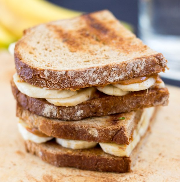 Two banana sandwiches are ready for munching | Hurry The Food Up
