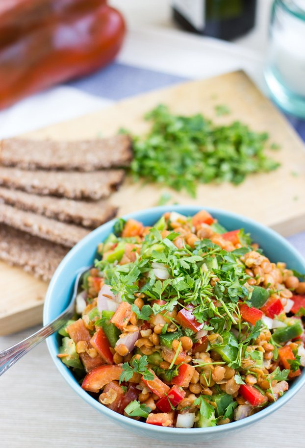 Turkish lentil salad 7 min vegan hurry the food up forumfinder Images