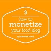 how to monetize a food blog | hurrythefoodup.com