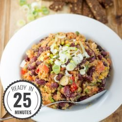 Fitness Lentil Bean Salad. 40g per bowl. Ready in 7 minutes | #vegetarian #workout| hurrythefoodup.com