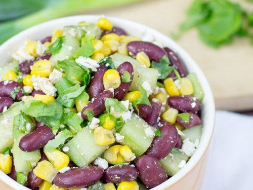High Protein Kidney Bean Salad Ready In 7 Minutes