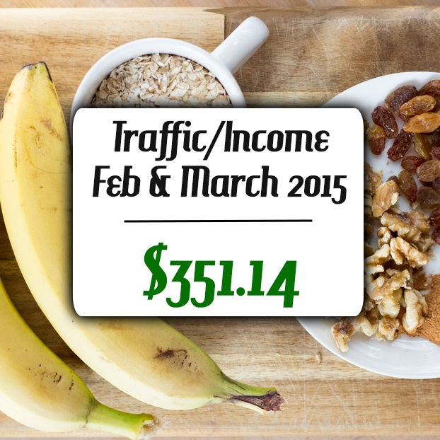 March Traffic and Income Report 2015 | hurrythefoodup.com