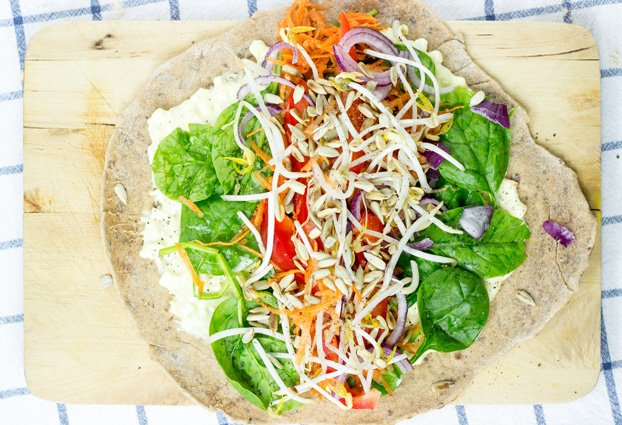 Tangy Veggie Wrap - For The Ultimate Picnic #vegetarian # wrap | hurrythefoodup.com