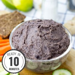High Protein Vegan Black Bean Dip #vegan #dip #black beans | hurrythefoodup.com