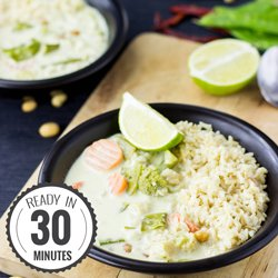 Quick and Easy Vegetarian Thai Green Curry #vegan #thai #curry | hurrythefoodup.com