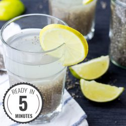Powerful Chia Seeds Natural Energy Drink - Chia Fresca / Iskiate (5 mins) #drink #chia | hurrythefoodup.com