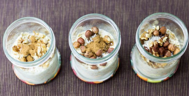 step 4 - add spices to your overnight oatmeal