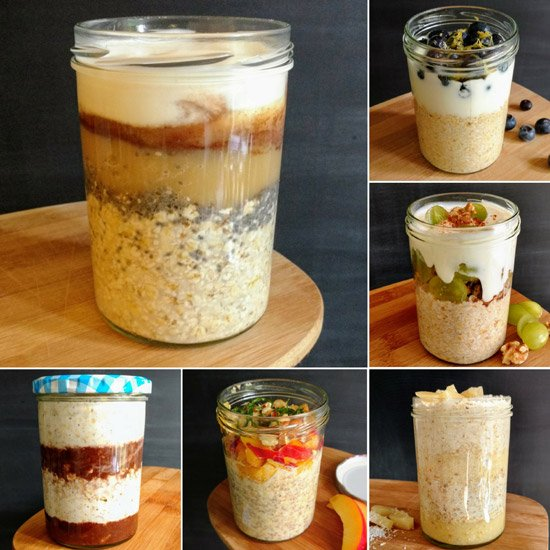 Overnight Oats in a Jar - Recipe Base | hurrythefoodup.com