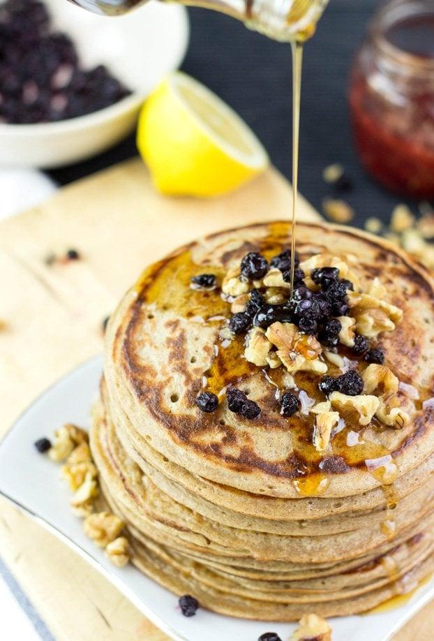 Authentic Vegan Banana Pancakes #pancakes #banana #vegan | hurrythefoodup.com