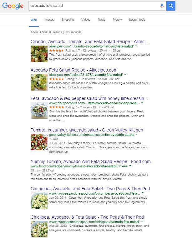 Avocado feta salad results