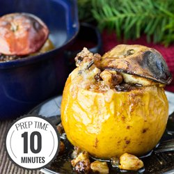 Easy Baked Apples with a Cinnamon Nut Stuffing #baked #apples #stuffed | hurrythefoodup.com