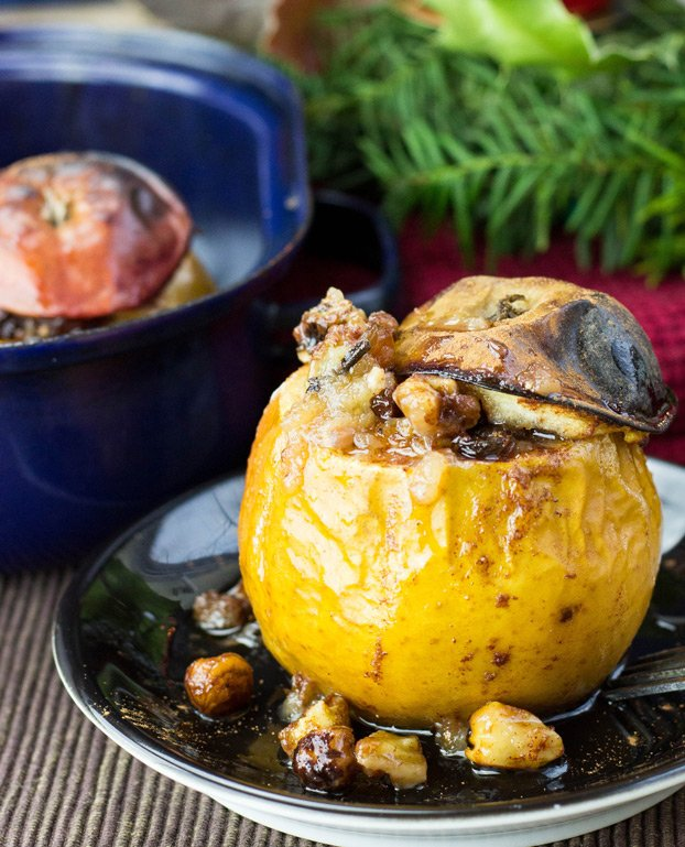 Easy Baked Apples With A Cinnamon Nut Stuffing