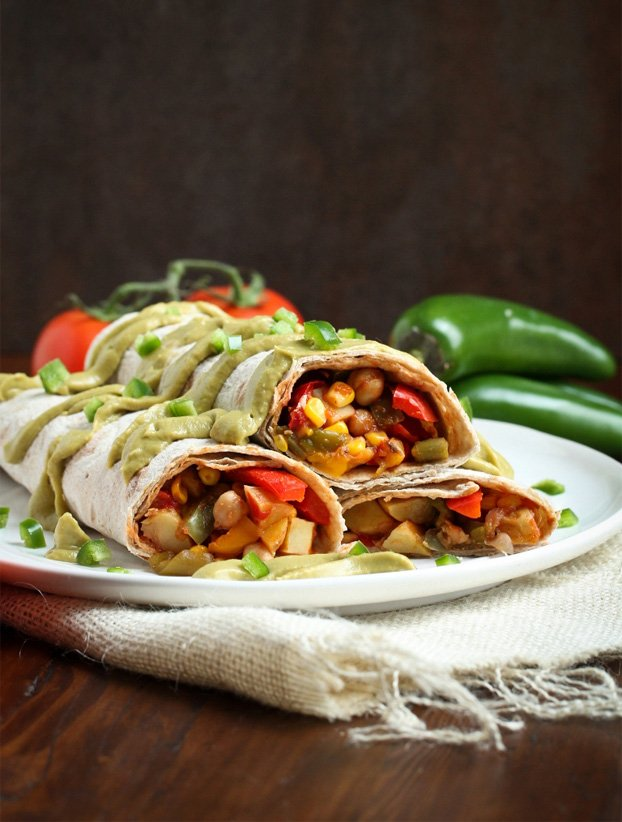 3. Easy Vegan Mexican Breakfast Burritos - 18 vegetarian lunch ideas