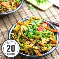 Fiery Dragon Noodles #vegetarian #asian #noodles | hurrythefoodup.com