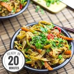 Fiery Dragon Noodles #vegetarian #asian #noodles | hurrythefoodup.com