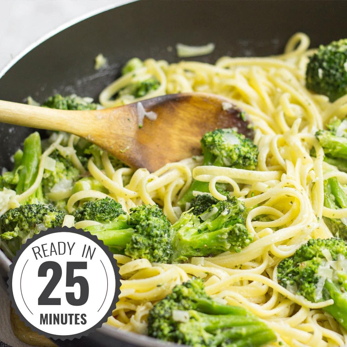 Creamy Broccoli Pasta 25 Min Vegetarian Hurry The Food Up