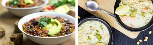 vegetarian chilli and curry