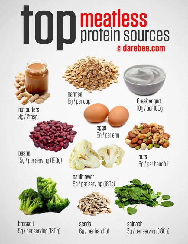 List All Foods Low In Protein