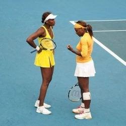 Tennis stars talking