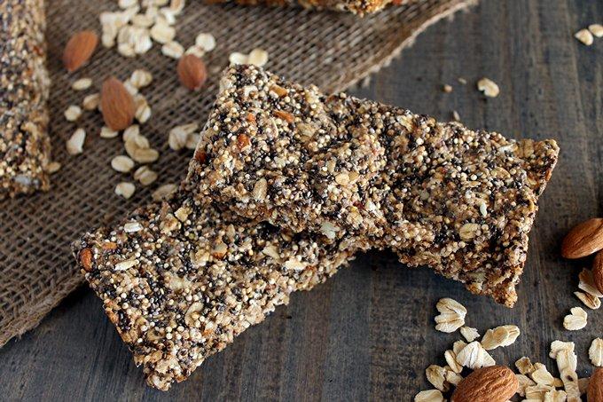 18. Quinoa-Chia-Seed-Protein-Bars - 18 Protein Bites Recipes
