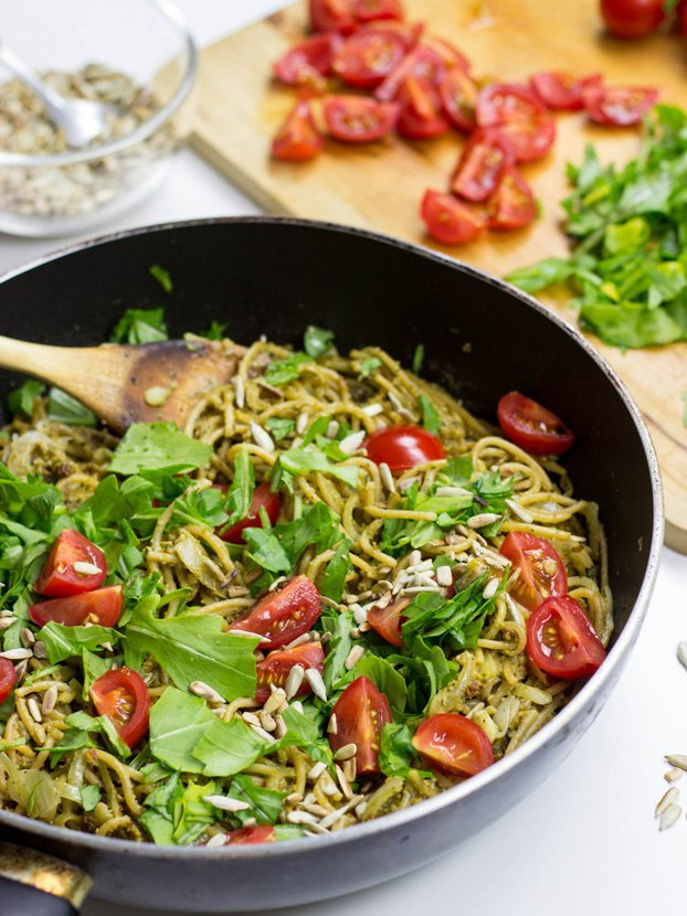 Red Pesto Pasta - The natural evolution of a classic dish   hurrythefoodup.com