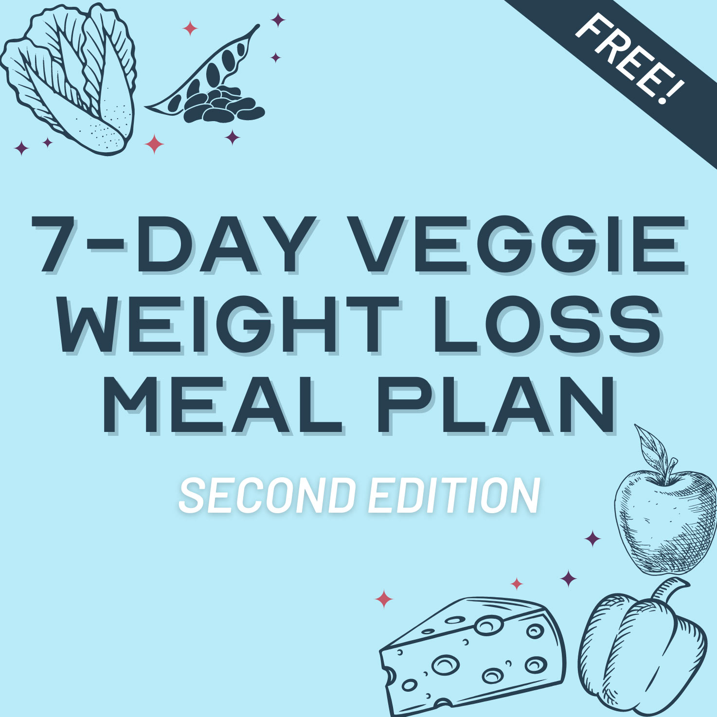 7-Day Vegetarian Weight Loss Meal Plan: 1500 kcal/day - Free Download