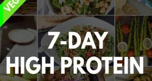 High Protein Vegetarian Meal Plan - Build Muscle and Tone Up! | hurrythefoodup.com