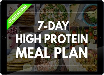 High Protein Vegetarian Meal Plan | hurrythefoodup.com