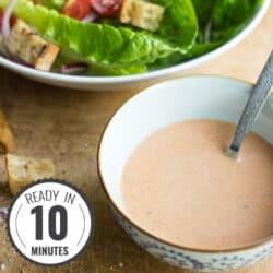 Vegan Caesar Dressing (and a cool salad suggestion!) | hurrythefoodup.com