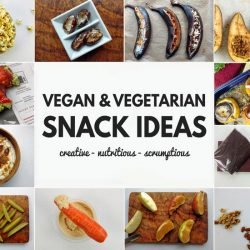 Vegan and Vegetarian Snack Ideas - all Quick and Healthy | hurrythefoodup.com
