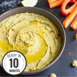 Avocado Hummus (or how to be the cool kid at the party) | hurrythefoodup.com