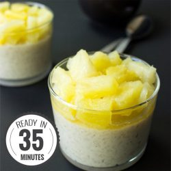 Creamy Coconut Rice Pudding with a Tropical Kick | hurrythefoodup.com
