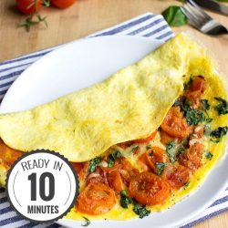 Easy Tomato Omelette - Perfect Every Time | hurrythefoodup.com