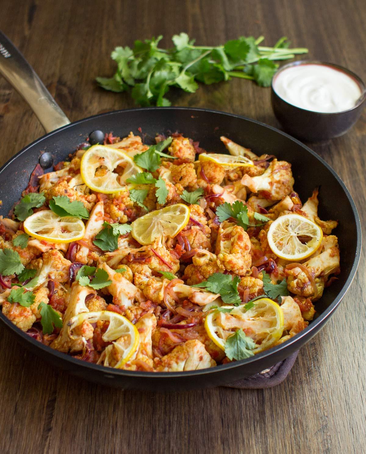 recipe: spinach and cauliflower bhaji [24]