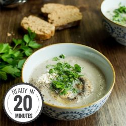 Vegetarian Mushroom Soup - Quick, Creamy, Delicious. We sort out the myths from the facts | hurrythefoodup.com