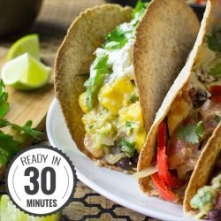 Mexican Vegetarian Tacos - Authentically Awesome | hurrythefoodup.com