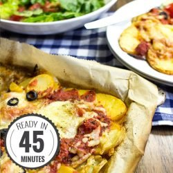 Perfect Pizza Potatoes - Gluten-Free Pizza | hurrythefoodup.com