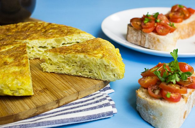Quick Spanish Omelette - Perfect for breakfast! - spanish omelette ready to eat #practical #breakfast | hurrythefoodup.com