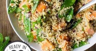 Thai Quinoa Salad - Tropical Vibes   hurrythefoodup.com